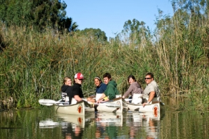 Canoeing on the Sunday's River close to Kudu Ridge