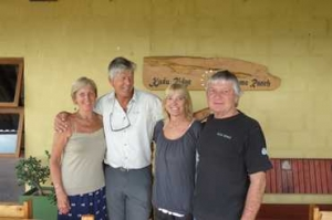 Kudu Ridge owners Brian and Jenny Bowren with guests