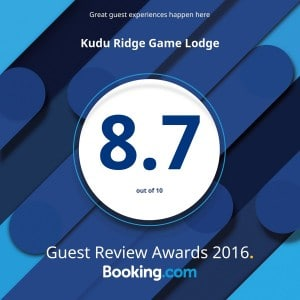 Kudu Ridge Game Lodge Booking.com Award